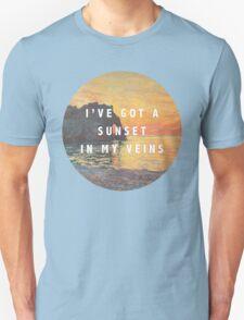 sunset in my veins Unisex T-Shirt