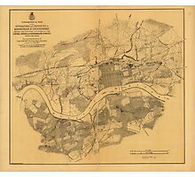 Civil War Knoxville Tennessee Map (1864) Photographic Print