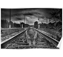 Railway Vanishing Point Poster