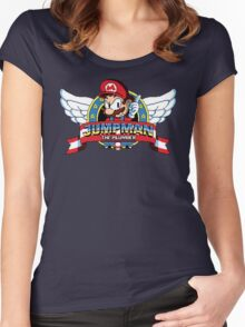 Jumpman The Plumber Women's Fitted Scoop T-Shirt