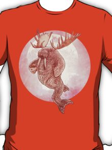 The Space Walrus On Moon Patrol. T-Shirt