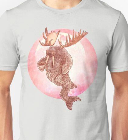 The Space Walrus On Moon Patrol. Unisex T-Shirt