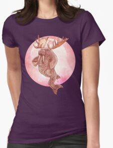 The Space Walrus On Moon Patrol. Womens Fitted T-Shirt