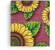 Uncle Jake's Sunflowers Canvas Print