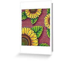 Uncle Jake's Sunflowers Greeting Card