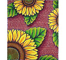 Uncle Jake's Sunflowers Photographic Print