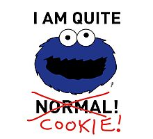 COOKIE MONSTER (BLACK TEXT) Photographic Print