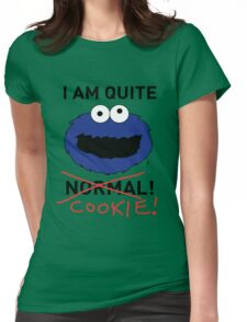 COOKIE MONSTER (BLACK TEXT) Womens Fitted T-Shirt