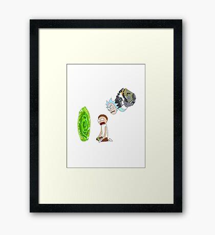 Rick and Morty Portal  Framed Print