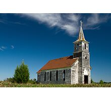 Abandoned County Church Photographic Print