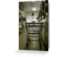 in the washing saloon Greeting Card