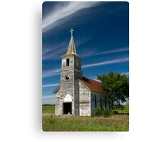Abandoned Church Standing Tall Canvas Print
