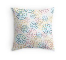 Sand Dollar Yellow Red Blue Line Pattern Throw Pillow