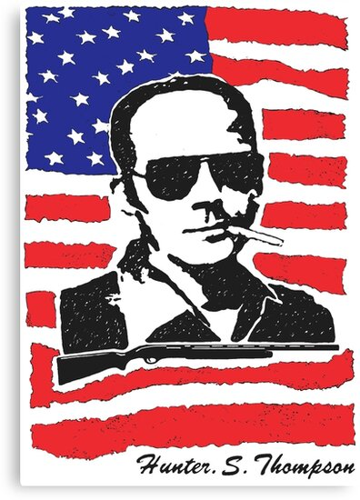 Hunter S Thompson. Drugs, alcohol, violence and insanity by brett66