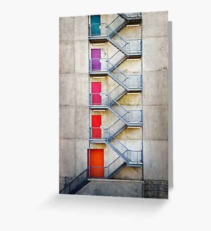 Five Doors Greeting Card