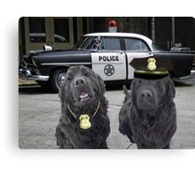 """☞ º°""""˜`""""°☜♥☞CANINE POLICE DOGS- BAD BOYS THEME TAKEN FROM THEME SONG ☞ º°""""˜`""""°☜♥☞ Canvas Print"""