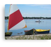 Sweep oar and bipedal analogues at the 2011 Small Craft Festival Canvas Print