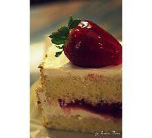 Strawberry Short Cake Photographic Print