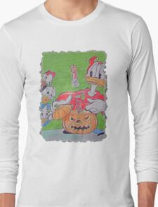 Donald Duck Halloween Trick I Long Sleeve T-Shirt