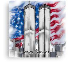 """9/11 Tribute"" Canvas Print"