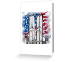 """9/11 Tribute"" Greeting Card"