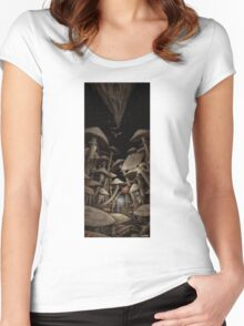 Fungus Forest Women's Fitted Scoop T-Shirt