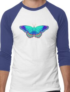 Colorful Butterfly Men's Baseball ¾ T-Shirt