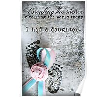 Breaking the Silence. I had a Daughter. Poster