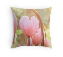 Dicentra Hearts Throw Pillow