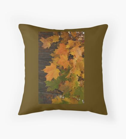 Fall Leaves iPhone case Throw Pillow