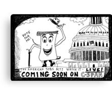 American Jobs Act - Watch it LIVE on CSPAN Canvas Print