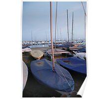 Masts at Dusk in L'Estartit Poster