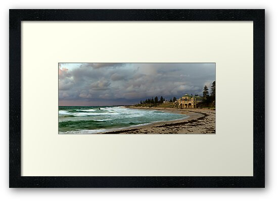 """Stormy Cottesloe Sunset"" Cottesloe Beach, Western Australia by Daniel Carr"