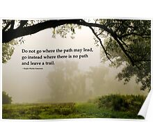 Life's Path Inspirational Art Poster