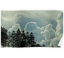 Explosion of clouds Poster
