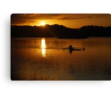 Rowing Home Canvas Print