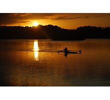 Rowing Home Photographic Print