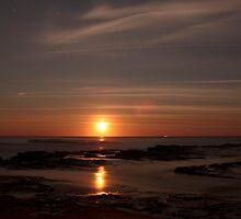 Moonrise  Turimetta beach 13/09/11 by Doug Cliff