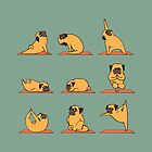 Pug Yoga by Huebucket