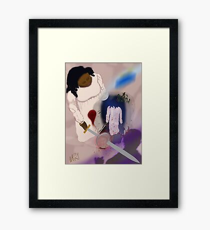 Night Walker  Though she does not Know the Seed of Early Cruelty was Slain Framed Print