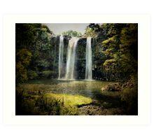 Tikipunga Falls, Whangarei, New Zealand. Art Print