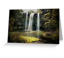 Tikipunga Falls, Whangarei, New Zealand. Greeting Card