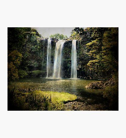 Tikipunga Falls, Whangarei, New Zealand. Photographic Print