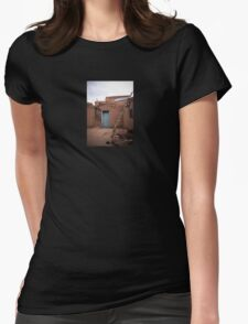 Taos Pueblo Ladder Womens Fitted T-Shirt