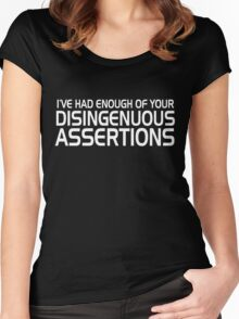 Disingenuous Assertions 2 Women's Fitted Scoop T-Shirt