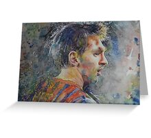 Messi - Portrait 1 Greeting Card
