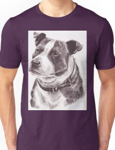 Staffordshire Bull Terrier in Pencil Unisex T-Shirt