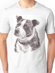 Staffordshire Bull Terrier in Pencil Unisex T-Shirt