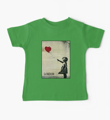 Banksy's Girl with a Red Balloon III Baby Tee