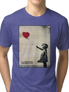 Banksy's Girl with a Red Balloon III Tri-blend T-Shirt